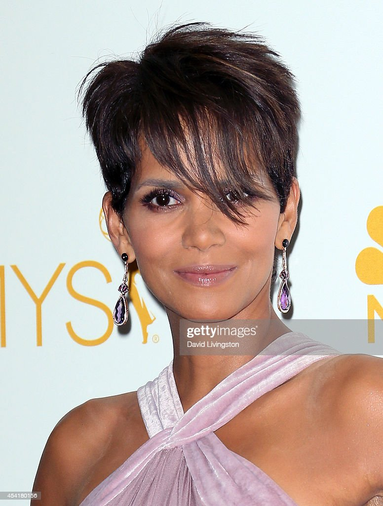 Actress Halle Berry poses in the press room at the 66th Annual Primetime Emmy Awards at the Nokia Theatre L.A. Live on August 25, 2014 in Los Angeles, California.