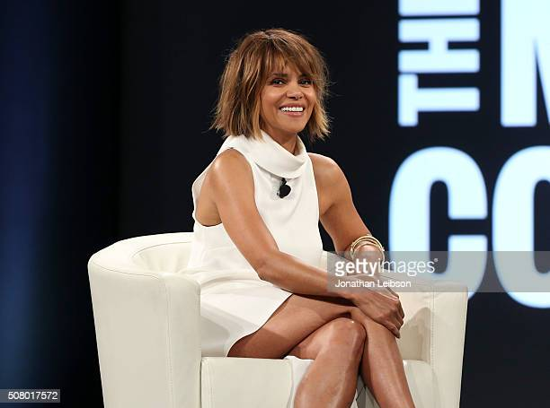 Actress Halle Berry speaks on stage at the 2016 MAKERS Conference Day 2 at the Terrenea Resort on February 2 2016 in Rancho Palos Verdes California
