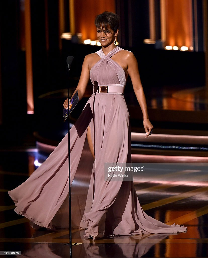 Actress Halle Berry speaks onstage at the 66th Annual Primetime Emmy Awards held at Nokia Theatre L.A. Live on August 25, 2014 in Los Angeles, California.