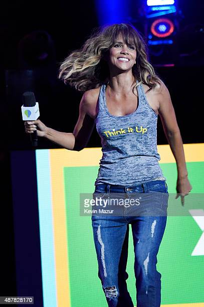 Actress Halle Berry speaks onstage during the Think It Up education initiative telecast for teachers and students hosted by Entertainment Industry...