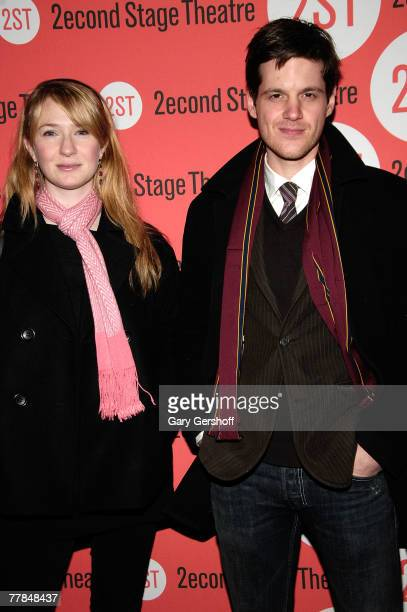 Actress Halley Feiffer and actor Michael Esper arrive to the Peter and Jerry Opening Night at Second Stage Theatre on November 112007 in New York City