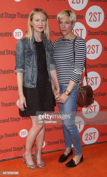 Actress Halley Feiffer and guest attend the 'Sex With Strangers' Opening Night at Second Stage Theatre on July 30 2014 in New York City