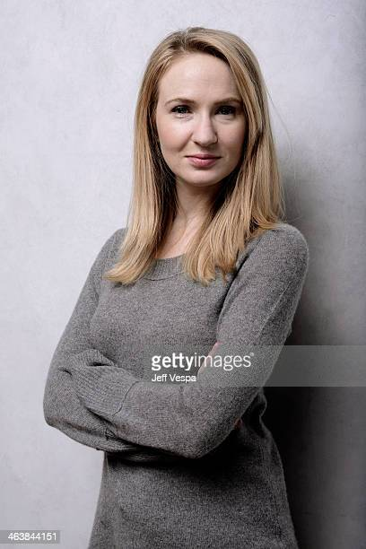 Actress Halley Feiffer poses for a portrait during the 2014 Sundance Film Festival at the Getty Images Portrait Studio at the Village At The Lift...