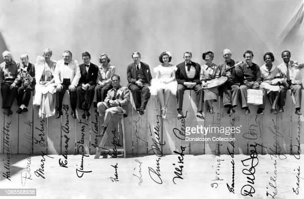 Actress Halliwell Hobbs Donald Meek Mary Forbes Edward Arnold James Stewart Jean Arthur director Frank Capra Lionel Barrymore Ann Miller Mischa Auer...