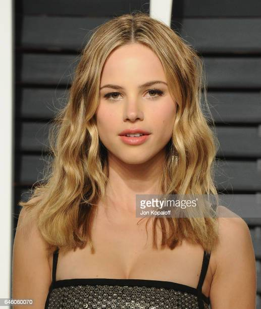 Actress Halston Sage arrives at the 2017 Vanity Fair Oscar Party Hosted By Graydon Carter at Wallis Annenberg Center for the Performing Arts on...