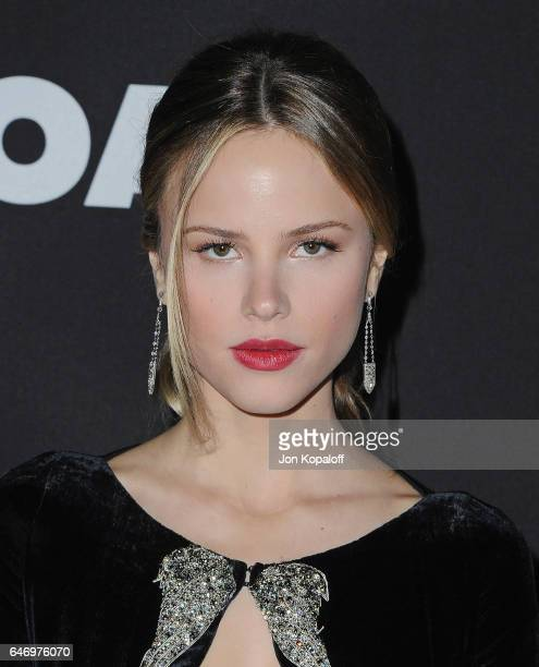 Actress Halston Sage arrives at the Los Angeles premiere 'Before I Fall' at Directors Guild Of America on March 1 2017 in Los Angeles California