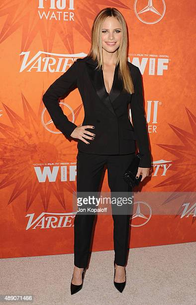 Actress Halston Sage arrives at the Variety And Women In Film Annual Pre-Emmy Celebration at Gracias Madre on September 18, 2015 in West Hollywood,...