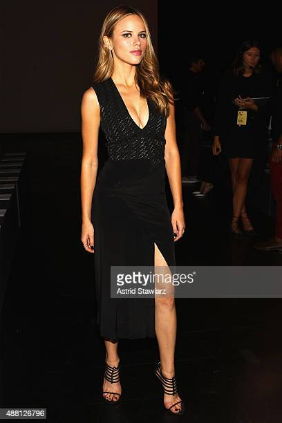 Actress Halston Sage attends Prabal Gurung Spring 2016 during New York Fashion Week The Shows at The Arc Skylight at Moynihan Station on September 13...