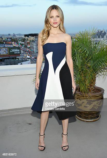 Actress Halston Sage attends Teen Vogue x Simon BTSS Kickoff Dinner on August 5 2015 in Los Angeles California