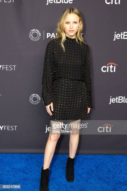 Actress Halston Sage attends the 2018 PaleyFest Los Angeles FOX's 'The Orville' at Dolby Theatre on March 17 2018 in Hollywood California