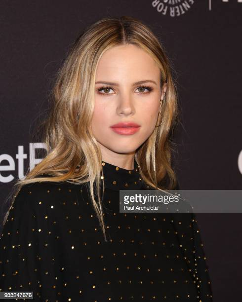 Actress Halston Sage attends the 2018 PaleyFest screening of FOX's The Orville at the Dolby Theatre on March 17 2018 in Hollywood California