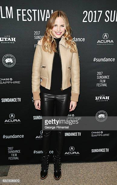 Actress Halston Sage attends the Before I Fall premiere on day 3 of the 2017 Sundance Film Festival at Eccles Center Theatre on January 21 2017 in...