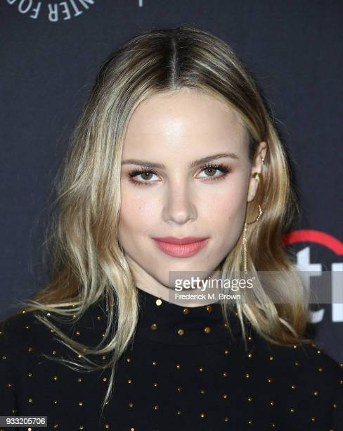 Actress Halston Sage attends The Paley Center for Media's 35th Annual PaleyFest Los Angeles 'The Orville' screening at the Dolby Theatre on March 17...