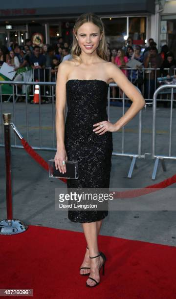 Actress Halston Sage attends the premiere of Universal Pictures' 'Neighbors' at Regency Village Theatre on April 28 2014 in Westwood California