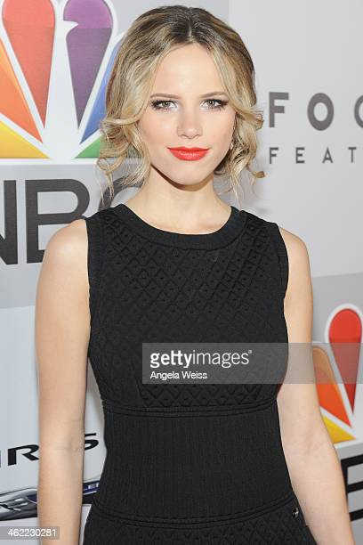 Actress Halston Sage attends the Universal NBC Focus Features E sponsored by Chrysler viewing and after party with Gold Meets Golden held at The...