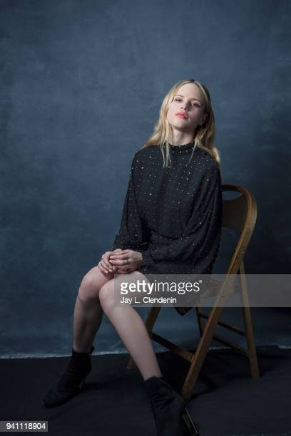 Actress Halston Sage from of 'The Orville' is photographed for Los Angeles Times on March 17 2018 at the PaleyFest at the Dolby Theatre in Hollywood...