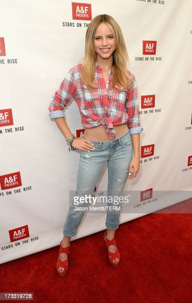 Actress Halston Sage one of Abercrombie Fitch's 2013 Stars on the Rise celebrated this year's back to school campaign on July 11th at The Grove's AF...