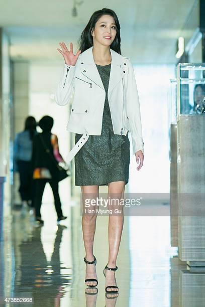 Actress Han GoEun makes an appearance at BELSTAFF at Hyundai Department Store on May 18 2015 in Seoul South Korea