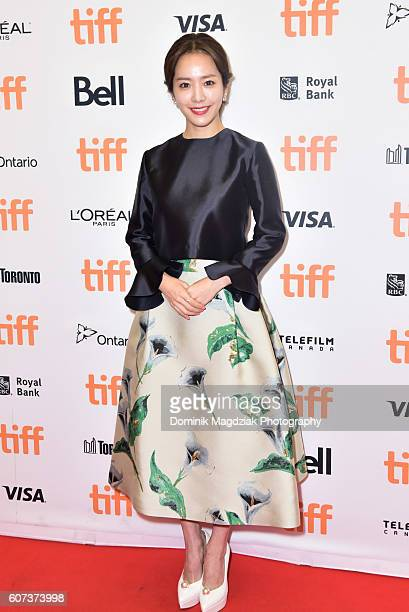 Actress Han Jimin attends 'The Age of Shadows' premiere during the 2016 Toronto International Film Festival at The Princess of Wales on September 17...
