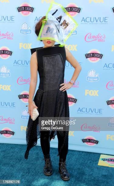 Actress Hana Mae Lee arrives at the 2013 Teen Choice Awards at Gibson Amphitheatre on August 11 2013 in Universal City California