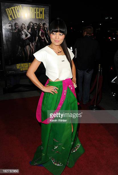 Actress Hana Mae Lee arrives at the premiere of Universal Pictures And Gold Circle Films' Pitch Perfect at ArcLight Cinemas on September 24 2012 in...
