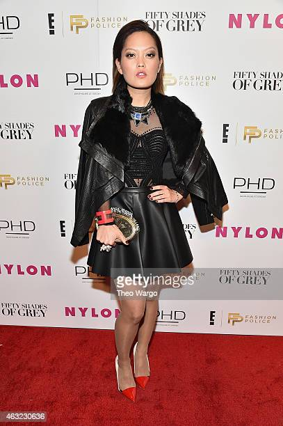 Actress Hana Mae Lee attends E 'Fashion Police' and NYLON kickoff New York Fashion Week with a 50 Shades of Fashion event in celebration of the...