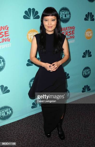 Actress Hana Mae Lee attends the 12th Annual NBCUniversal Short Film Festival finale screening at the Directors Guild of America on October 18 2017...