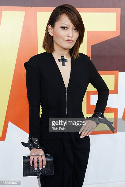 Actress Hana Mae Lee attends The 2015 MTV Movie Awards at Nokia Theatre LA Live on April 12 2015 in Los Angeles California