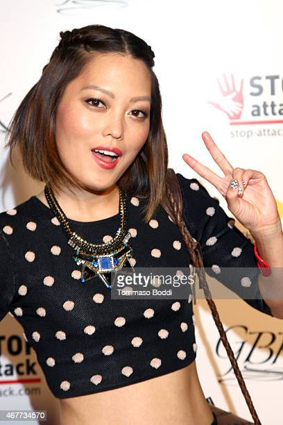 Actress Hana Mae Lee attends the GBK Stop Attack Pre Kids Choice Gift Lounge at The Redbury Hotel on March 26 2015 in Hollywood California