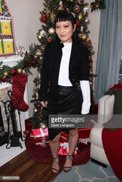 Actress Hana Mae Lee visits Hallmark's 'Home Family' at Universal Studios Hollywood on December 18 2017 in Universal City California
