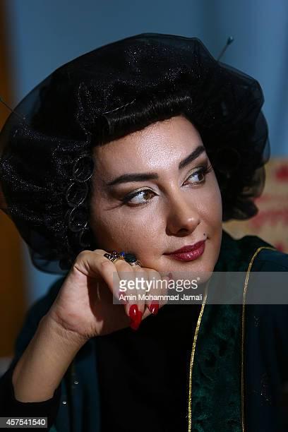 Actress Hanieh Tavassoli looks on during 'Sperm Whale' Movie on October 19 2014 in Tehran Iran