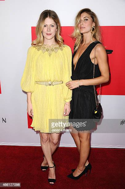 Actress Hanna Alstrom and Cecilia Forss attend the premiere of The Gunman at Regal Cinemas LA Live on March 12 2015 in Los Angeles California