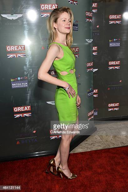 Actress Hanna Alstrom arrives at the GREAT British Film Reception at The London West Hollywood on February 20 2015 in West Hollywood California