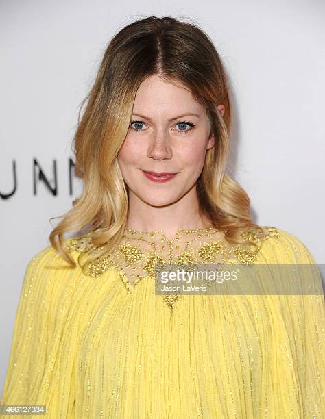 Actress Hanna Alstrom attend the premiere of The Gunman at Regal Cinemas LA Live on March 12 2015 in Los Angeles California