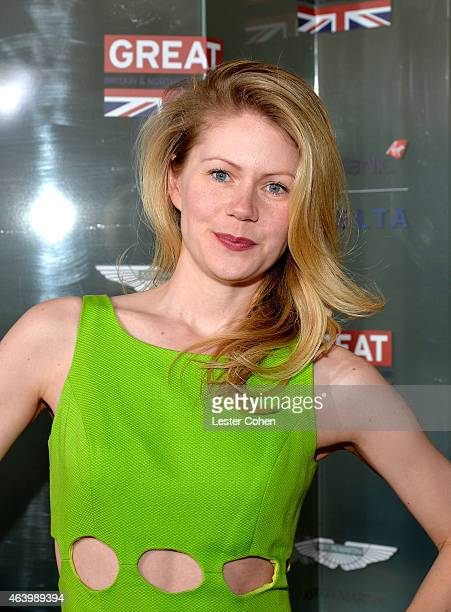 Actress Hanna Alstrom attends the GREAT British film reception honoring the British nominees of the 87th Annual Academy Awards at The London West...