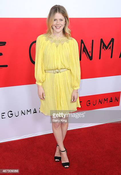 Actress Hanna Alstrom attends the premiere of 'The Gunman' at Regal Cinemas LA Live on March 12 2015 in Los Angeles California