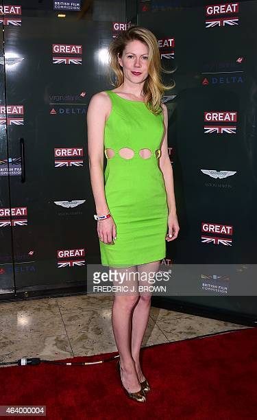 Actress Hanna Alstrom poses on arrival for the GREAT British Film Reception in West Hollywood California on February 20 to honor the British Nominees...