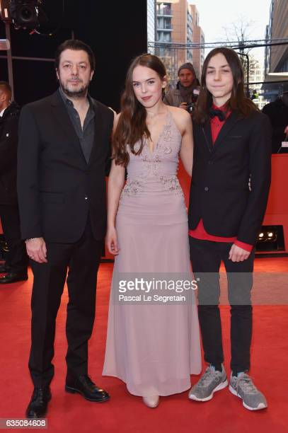 Actress Hanna Karlberg actor Tristan Goebel and director Thomas Arslan attend the 'Bright Nights' premiere during the 67th Berlinale International...