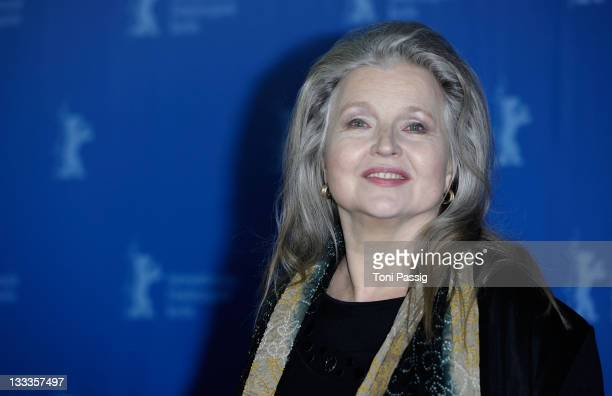 Actress Hanna Schygulla attends the Tribute To Wolfgang Kohlhaase and Hanna Schygulla Photocall during day seven of the 60th Berlin International...