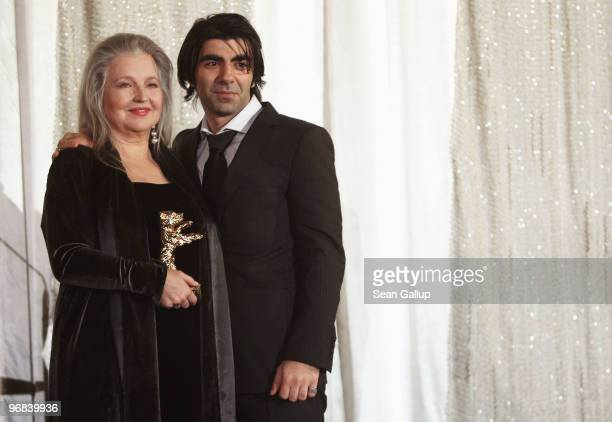 Actress Hanna Schygulla receives the Honorary Golden Bear for lifetime achievement alongside director Fatih Akin during day eight at the 60th...