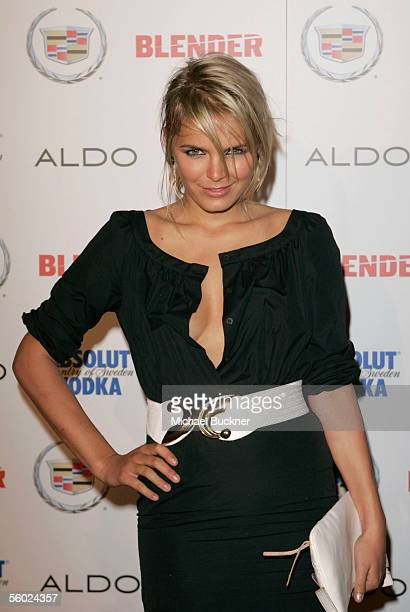 Actress Hanna Verboom arrives at the Blender Magazine Rock and Roll Hollywood Bash at a private residence on October 27 2005 in Los Angeles California