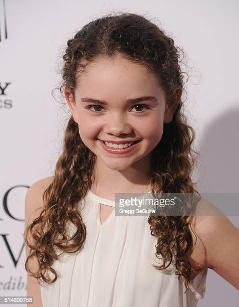 Actress Hannah Alligood arrives at the premiere of Columbia Pictures' Miracles From Heaven at ArcLight Hollywood on March 9 2016 in Hollywood...