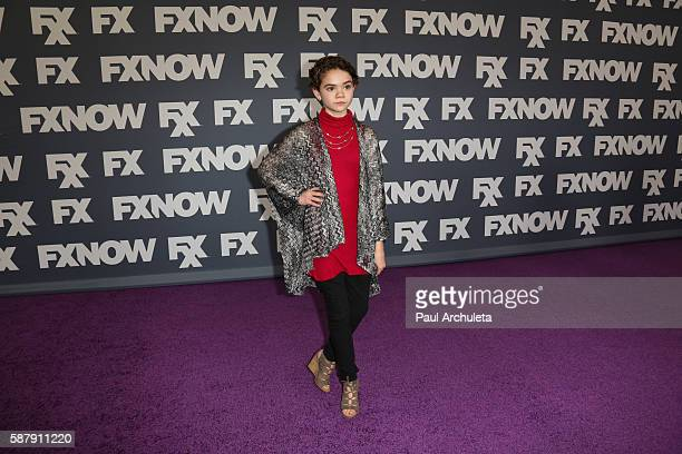 Actress Hannah Alligood attends FX Networks TCA 2016 Summer Press Tour on August 9 2016 in Beverly Hills California