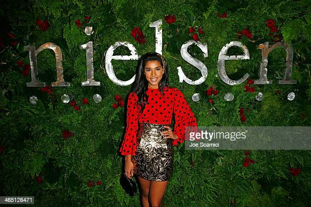 Actress Hannah Bronfman attends the Nielsen PreGRAMMY Party at Mondrian Los Angeles on January 25 2014 in West Hollywood California