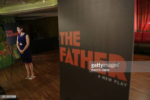 Actress Hannah Cabell speaks to the media following the opening night performance of The Father held at the Samuel J Friedman Theatre on April 14...