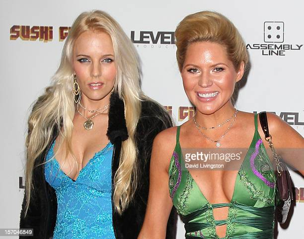 "Actress Hannah Cornett and model Ashley Mattingly attend the premiere of ""Sushi Girl"" at Grauman's Chinese Theatre on November 27, 2012 in Hollywood,..."