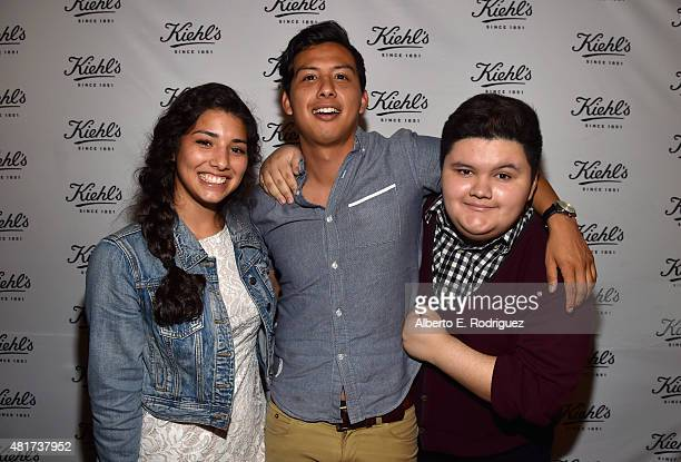 Actress Hannah Elane writer/director Ryan Velasquez and actor Jovan Armand attend Film Independent's Project Invovle Shorts at The Grove on July 23...