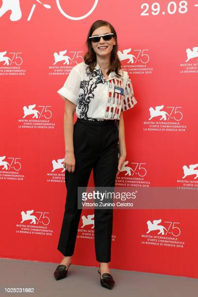 Actress Hannah Gross attends 'The Mountain' photocall during the 75th Venice Film Festival at Sala Casino on August 30 2018 in Venice Italy
