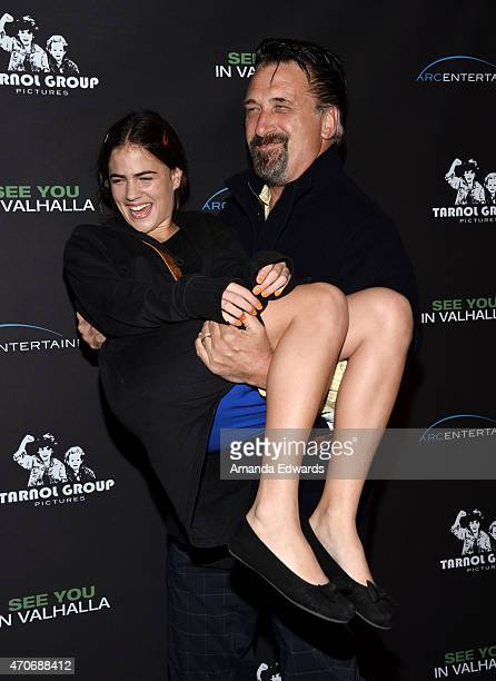 """Actress Hannah Hannley and actor Daniel Baldwin arrive at the Los Angeles premiere of """"See You In Valhalla"""" at the ArcLight Cinemas on April 21, 2015..."""