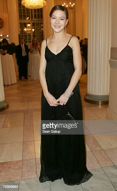 Actress Hannah Herzsprung attends the Cinema for Peace Charity Gala on February 12 2007 in Berlin Germany The gala is traditionally held during the...